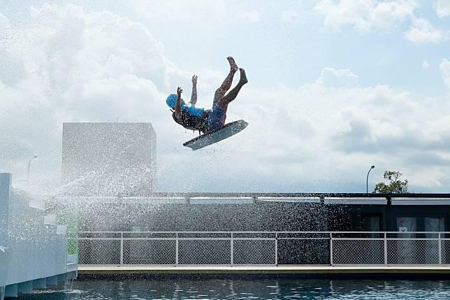 ▲台創新天堂樂園之「滑水道」、「跳水台」日前於7月20日正式對外開放。(圖/台開提供)