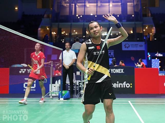 ▲戴資穎(右)擊敗韓國金佳恩(圖/Badminton photo提供)